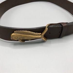 Vineyard Vines Brown Leather Mahi Belt